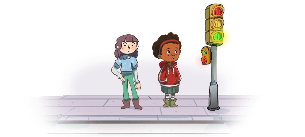 nenas e semáforo